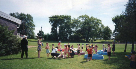 Students outside for Outdoor Playday