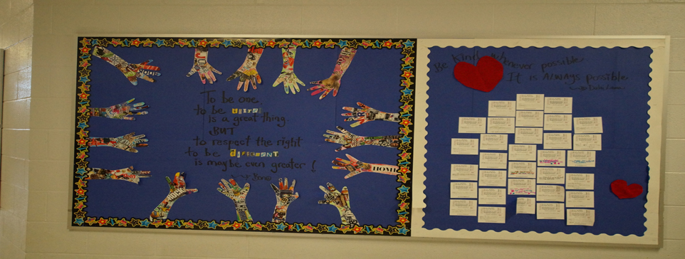 Bulletin Board promoting Mercy